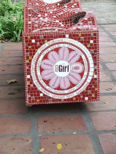 mosaic bench Cape Town, Mosaic, Survival, Bench, Gardens, Gift Wrapping, Rock, Gifts, Inspiration