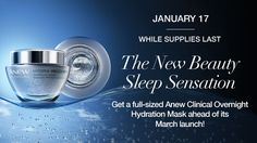 NEW - Anew Clinical Overnight Hydration Mask Early release! Order today at youravon.com/bivey