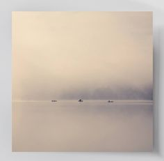 """""""Fischerboote im Morgennebel"""" von Franz Sussbauer   http://www.artefactum-shop.de/landschaften/fs08/"""