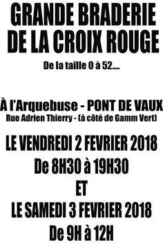 Braderie de la Croix rouge vendredi et samedi matin à l'Arquebuse.