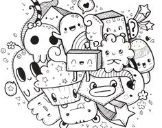 Home Decorating Style 2020 for Coloriage Nouvel An you can see Coloriage Nouvel An 2017 and more pictures for Home Interior Designing 2020 13199 at SuperColoriage. Cute Doodle Art, Doodle Art Designs, Doodle Art Drawing, Cute Art, Kawaii Drawings, Cartoon Drawings, Cute Drawings, Kawaii Doodles, Cute Doodles