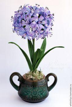 Купить Фото мастер-класс Агапантус из фоамирана - сиреневый, агапантус, фоамиран, цветы из фоамирана