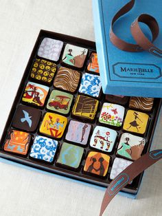 truffles by MarieBelle Sweets... I don't like truffles usually, but these are really pretty!