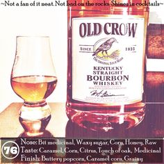 Old Crow. Great for mixing. Sipping?... not so much