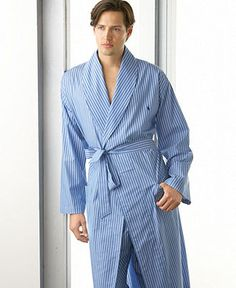 574aa6a5e6 Polo Ralph Lauren Manhatten Stripe Woven Robe and PJ Pants - Mens Pajamas   amp  Robes