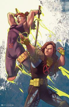 Shatterstar & Rictor X-men Marvel Comics Marvel Comics Art, Marvel X, Anime Comics, X Men, Comic Books Art, Comic Art, Comic Character, Character Design, The Uncanny