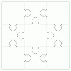 9 Piece Jigsaw Template By Bird Puzzle Crafts Art Pieces