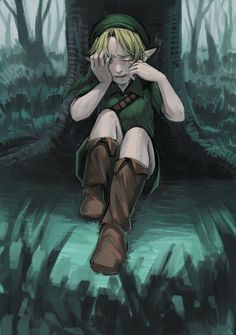 *sniff*  what do I do now Great Deku tree I defeated Gohma but you still died, I saved Hyrule and and Termina but I still can't find Navi. Please tell me where my companion is*sob* Link? Why are you crying?- Navi. Navi? Is that you?*sniff*- Link. It is You!-Link