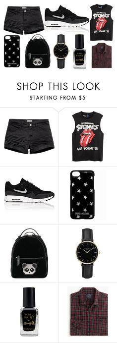 """4"" by thisisalle on Polyvore featuring H&M, NIKE, Zadig & Voltaire, Les Petits Joueurs, ROSEFIELD and Barry M"