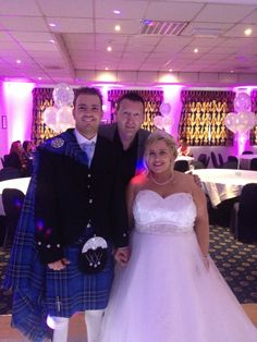 Big Al your perfect party host with Kimberly & Michael ,hosting there wedding disco at Park Hotel Kilmarnock 07/06/14 www. alsdiscokaraoke.co.uk