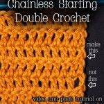 Chainless Starting Double Crochet : Video and Photo Tutorial - Do away with the odd look of starting a dc row with ch3.