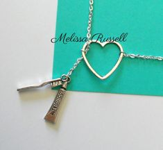 WANT! Silver Dental Necklace with Toothpaste and by MelissaMarieRussell