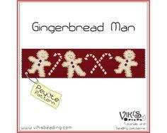 Peyote Pattern for bracelet Gingerbread by VikisBeadingPatterns