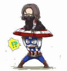 captain america bucky funnies - Google Search