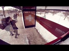 Duracell ad in Canada. This video is a bit boring, but the idea behind it is cool, guerilla marketing the whole bus waiting experience Moments of Warmth (surprise bus shelter) Experiential Marketing, Guerilla Marketing, Marketing And Advertising, Viral Advertising, Cgi, Cossette, Bus Shelters, Lisa Phillips, Canada