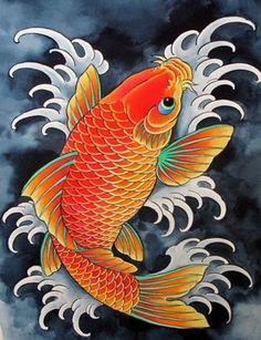 chris+garver+paintings | chris garver #koi #tattoo #fish #miami ink Koi Dragon Tattoo, Carp Tattoo, Dragon Tattoo Back Piece, Koy Fish Tattoo, Japanese Koi Fish Tattoo, Koi Fish Drawing, Japanese Dragon Tattoos, Fish Drawings, Tattoo Pez