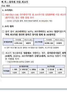 Jinkyu Kim`s Go Stocks: 종목별사상최고가와 제일모직