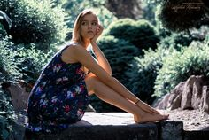 Sitting girl   model: Anastasiia Bobrenko, photo from my blog: http://www.photo4art.eu/  #portrait #woman #girl #dress #sitting #blonde #legs #feet #park #garden #green #nature #barefoot #cute #beautiful #pretty #summer #famale #model #young
