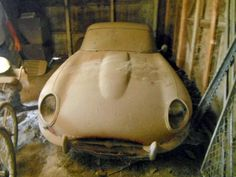 """""""Barn Find"""" - 1963 Jaguar XKE Coupe.  Don't look so sad little Jag.  You'll cruise again!"""