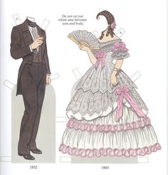 Early Victorian Costumes paper dolls by Tom Tierney @Tim Harbour Harbour Shute Eccleston Travel Costumes