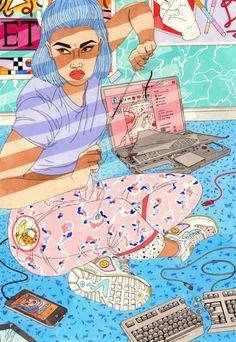 Grandes los trabajos de la ilustradora irlandesa Laura Callahan. Callahan terminó sus estudios en la Universidad de Kingston en el año 2010 y ahora vive y trabaja en el sureste de Londres.
