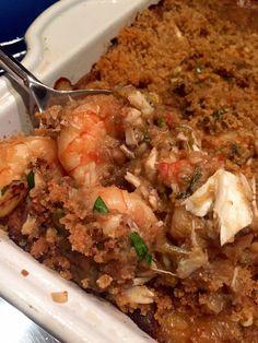Gulf Shrimp, Crab and Eggplant Casserole