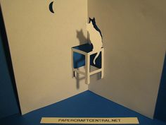 Kirigami - Cat on Window by PaperCraftCentral_dot_net, via Flickr
