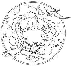 Mandalas a colorier : mandala-dinosaures (2).jpg