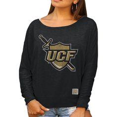 UCF Knights Original Retro Brand Women's Relaxed Boatneck Dolman Long Sleeve T-Shirt – Black - $41.99