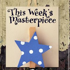 'this week's masterpiece' wooden peg blue by angelic hen | notonthehighstreet.com