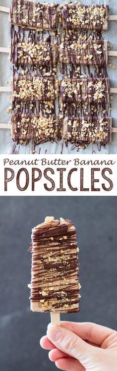 Peanut Butter Banana Popsicles