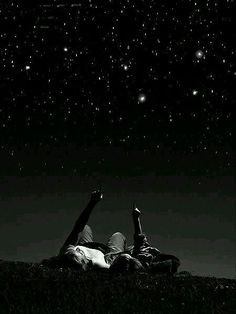 Watching the stars together. #beautiful #view #dark #nights #stars #everywhere #place #together #love #couple #you