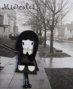 Halloween. Minilady Brooch