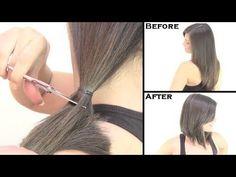 Cómo cortar el cabello, tres vídeo-tutoriales muy sencillos - http://www.bezzia.com/cortar-cabello-tres-video-tutoriales-sencillos/