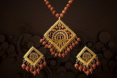 THEWA JEWELLERY Gold Jewelry Simple, Simple Necklace, Cute Jewelry, Jewelry Necklaces, Traditional Indian Jewellery, Indian Jewelry, Gold Jhumka Earrings, Most Beautiful Birds, Embroidery Suits Design
