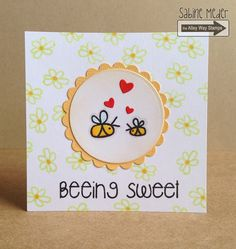 TAWS, The Alley Way Stamps, Bee Sweet, Flower Show, cards, clear stamps, Sabine