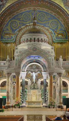 """jay-alfred-prufrock: """" signorcasaubon: """" Another favorite of mine: the truly stunning High Altar and Baldachin of the Cathedral Basilica of Saint Louis in Saint Louis, Missouri, USA """" YES MY CHURCH (not my parish, but still!) """""""