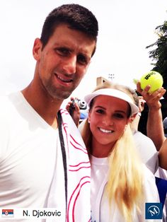 One of our ROGERS CUP Mayfair Team poses for a picture with Serbian Pro, Novak Djokovic #myMayfair