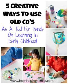 Here are some creative craft activities you can do with #kids, using recycled CD's.