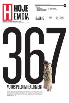 Capa do dia 18/04/2016 #HojeEmDia #Jornal #Notícias #News #Newspaper