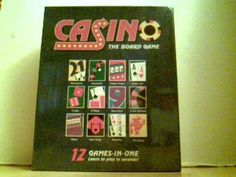 Casino, the Board Game (025766022004) Learn to play 12 popular casino games Blackjack, Craps, Roulette, Seven Stud, Slots, Baccarat, Holdem, Omaha, Video Poker, Pai Gow Poker, Red Dog,Cash Wheel 2-8 Players Gametime 1 1/2 hours