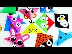 🎒🏫 Back to School: Origami Paper Corner Bookmarks - simplekidscrafts Modular Origami, Origami Folding, Origami Easy, Origami Paper, Paper Folding, Paper Bookmarks, Corner Bookmarks, Origami Design, Easy Paper Crafts