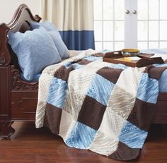 I like this quilt. Nice colors - but maybe a softer brown.