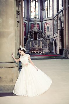 Ballerina Bride.. and if I'm not mistaken, I think that is part of Westminster Abbey... not certain, though
