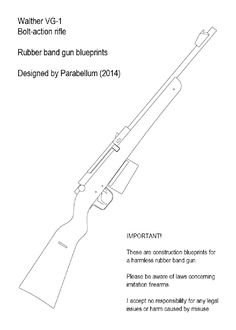 Rubber band gun blowback m16a1 1 toys pinterest rubber band bolt action rubber band gun malvernweather Image collections