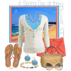 Spring Day at the Beach by christa72 on Polyvore