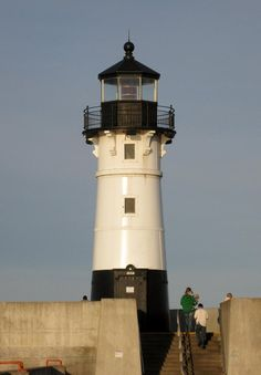 North Pier lighthouse in Duluth Mn