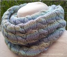 A free pattern for a divine cabled cowl with a great tuturiol on cabling without a cable needle.-  Fitzbirch Crafts
