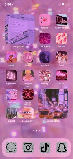 Iphone Layout, Cute School Supplies, Pink Aesthetic, Homescreen, Screens, Ios, Wallpapers, Organization, Organisation