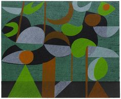 Dream Landscape No. 2 Woodcut and Stencil Peter Green
